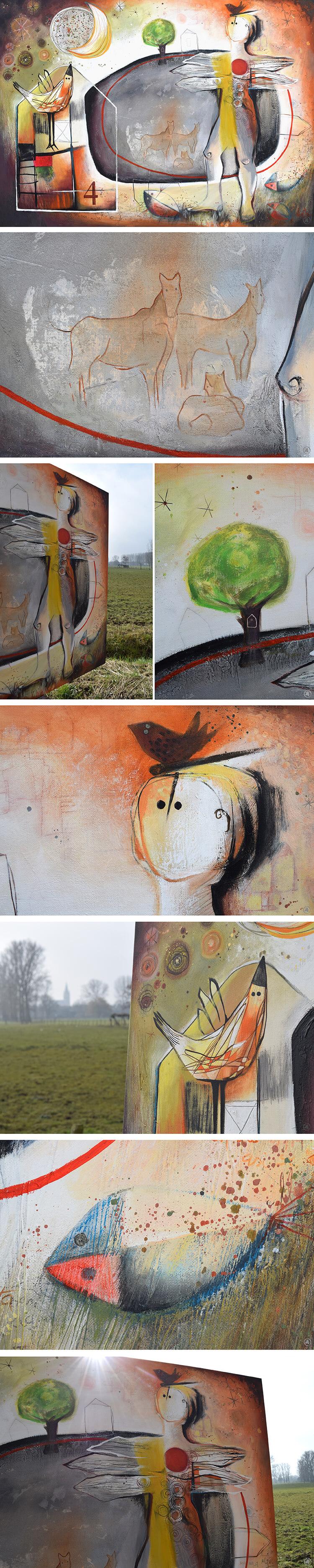 Painting CASAS by Angeles Nieto