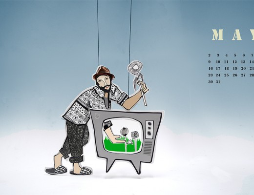 Illustrator calendar by Angeles Nieto