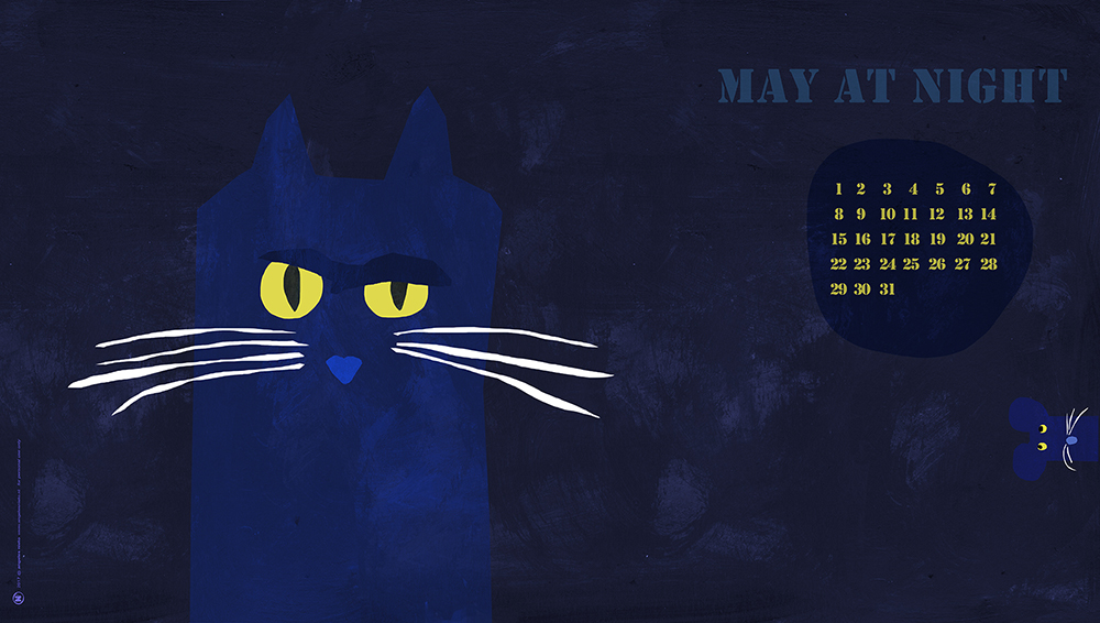 Desktop illustration calendar may 2017 by Angeles Nieto