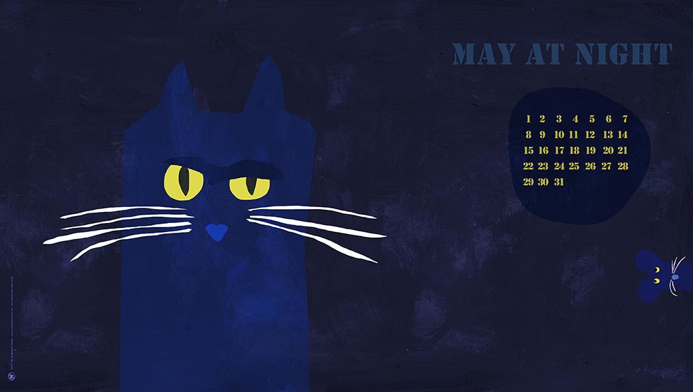 Desktop illustration calendar may 2017 by Angeles Nieto