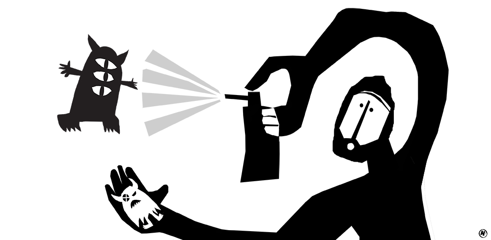 Illustratie Angeles Nieto - creatieve blokkades