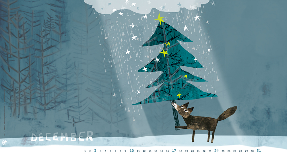 Shelter under the christmas tree calendar for december 2017 for Under the christmas tree 2017