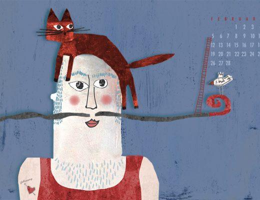 Mijn kat en ik, illustratie van Angeles Nieto