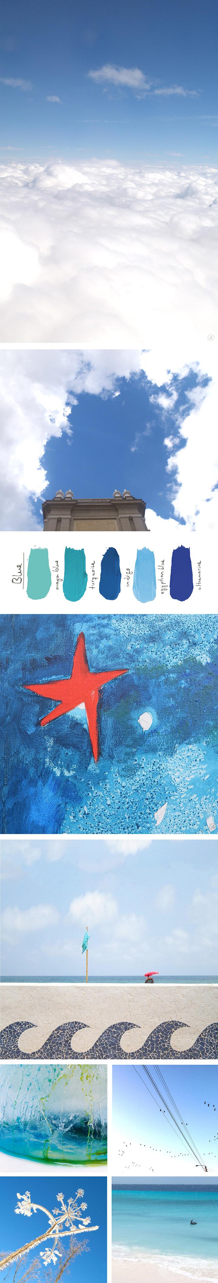De sleutels tot de kleur blauw. Blog about the color blue by Angeles Nieto - Blog over de kleur blauw door Angeles Nieto - Blog sober el color Azul escrito por Angeles Nieto
